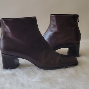 Via Spiga Vero Cuoio Leather Mini Boots